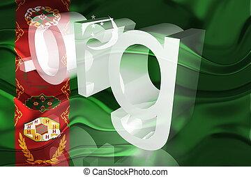 Flag of Turkmenistan wavy website