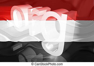 Flag of Yemen wavy website