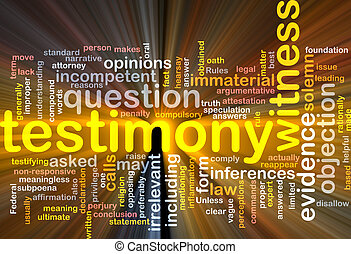 Testimony evidence background concept glowing - Background...