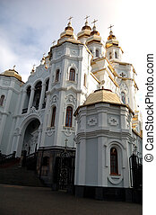 Orthodox church in Kharkov - Large Orthodox church in the...