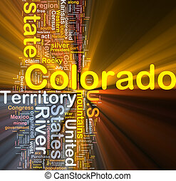 Colorado state background concept glowing - Background...