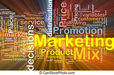 Marketing mix background concept glowing - Background...