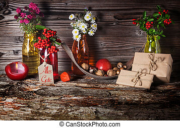 Birthday table, birthday card