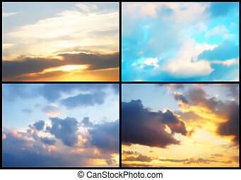 Collage of sky background