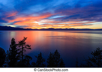 Sunset, Lake Tahoe - Photos Taken in Lake Tahoe Area