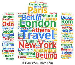 Travel cities names destinations