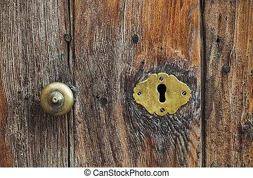 alten Schlüsselloch an einer Tür