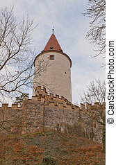 Krivoklat Castle XII c, Czech Republic - Main keep of...