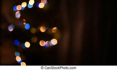 Christmas tree with Colorful bokeh