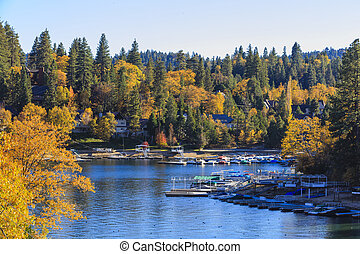 Lake Arrowhead at autumn
