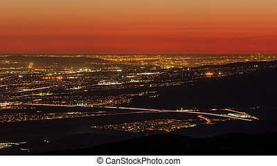 San bernardino from the top, sunset