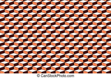 Seamless pattern with 3D optical effect.