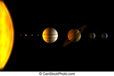 planets - all the planets in the solar system
