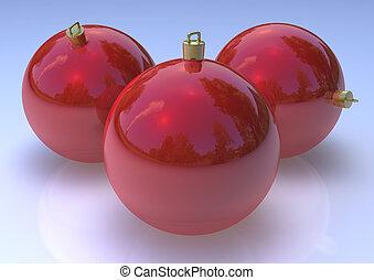 ChristmasRed  Balls