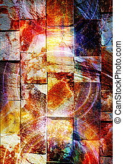 Abstract background and rock wall and color effect, color...