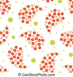 Seamless small flower pattern - Seamless cute daisy paisley...