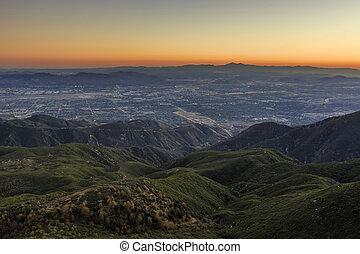 San Bernardino at sunset time - Sight seeing over San...