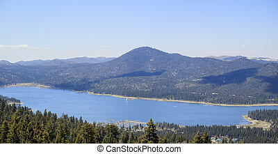 Big bear lake near Los Angeles - Great Big bear lake near...