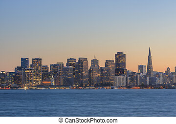 San Francisco Skyline at sunset time