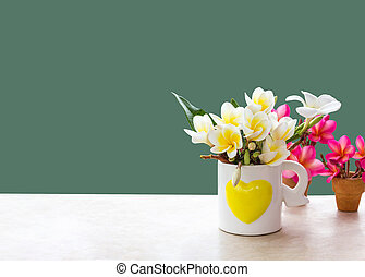 (With clipping path) Isolated beautiful white flower plumeria