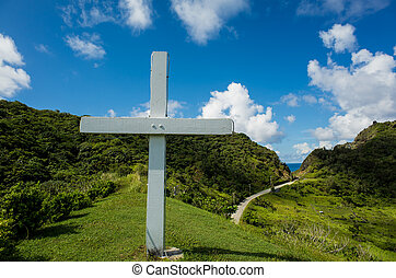 Beautiful religion place and nature landscapes at Orchid Island, Taitung