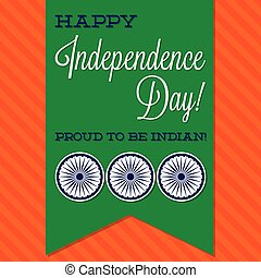 Sash Indian Independence Day card in vector format