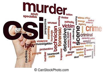 CSI word cloud concept - CSI word cloud
