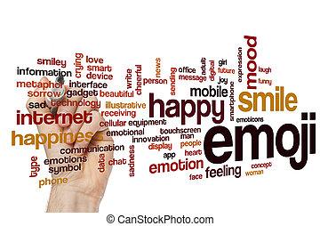 Emojiv, palavra, nuvem, conceito,