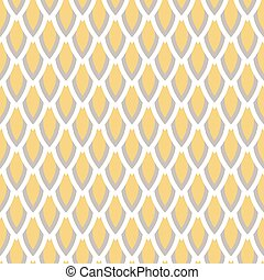 Mustard yellow and taupe vector geometric seamless pattern -...