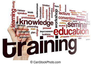 Training word cloud concept