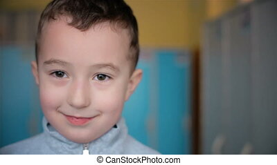 Smiling of five years boy HD