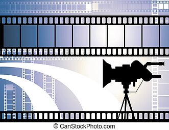Film with light - Illustration of Film with light