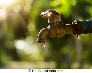 Defective faucet Cause wastage of water with sunlight