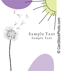 greetings card - Abstract vector greetings card for design...