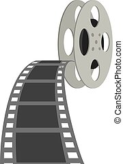 cinema projector and films - Illustration of cinema...