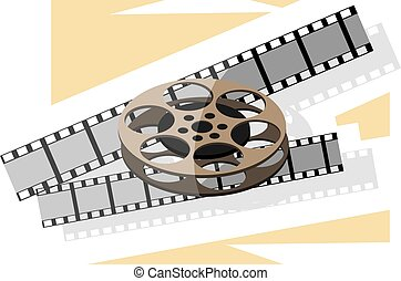 cinema projector - Illustration of cinema projector and...