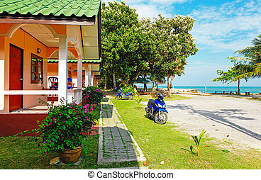 house by the sea with scooter outdoors - Ko Chang Island,...
