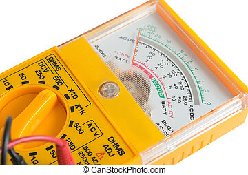 the Analog tester - the yellow Analog tester on a white...