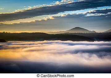 Sunrise over Val dquot;Orcia - Sunrise over Val dOrcia