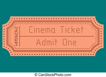 Cinema ticket. Admit one. Vector il
