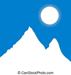 Mountains - White mountain landscape Vector illustration