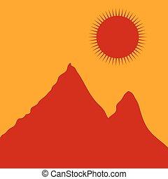 Mountains. - White mountain landscape. Vector illustration.