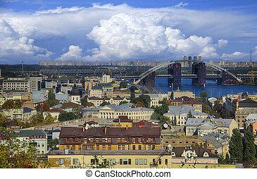 Kiev, Ukraine, view overlooking the town. - Kiev, Ukraine,...