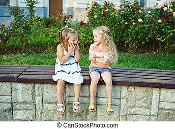 two happy little girls