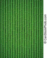 Bamboo pattern - Green bamboo stick pattern background.