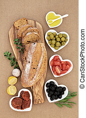 Mediterranean Antipasti - Mediterranean antipasti with...