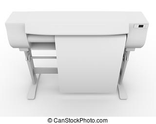 Plotter graphic design - Large size inkjet printer. Plotter...