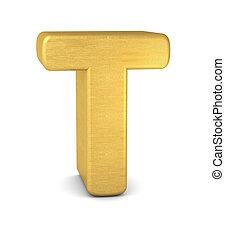 3d letter T gold