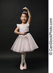 Asian little girl ballerina