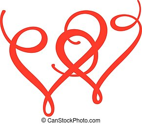 Two hearts - symbol of love